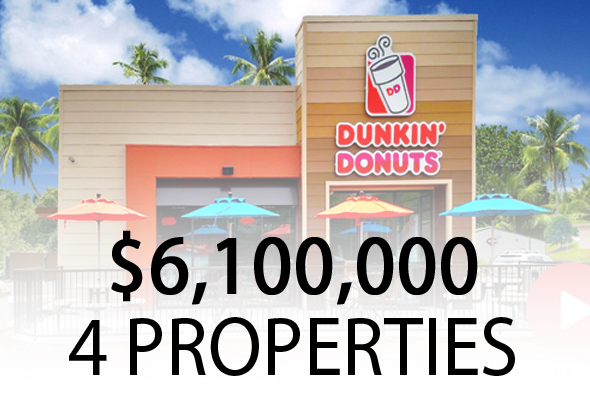 the ben-moshe brothers of marcus millichap triple net nnn single tenant nnn investment cap rates dunkin donuts sale leasebacks florida
